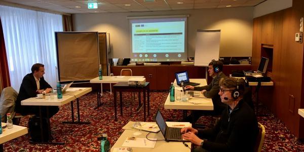 Virtual training workshop taking place in Hamburg